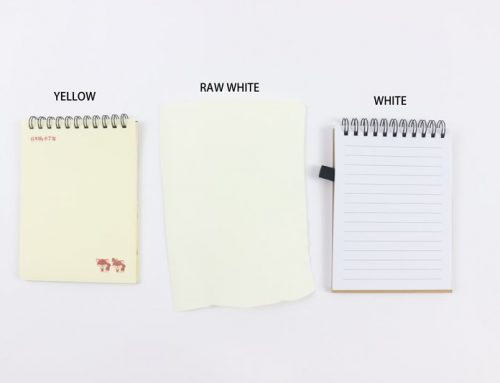 Three ordinary material for notebook paper