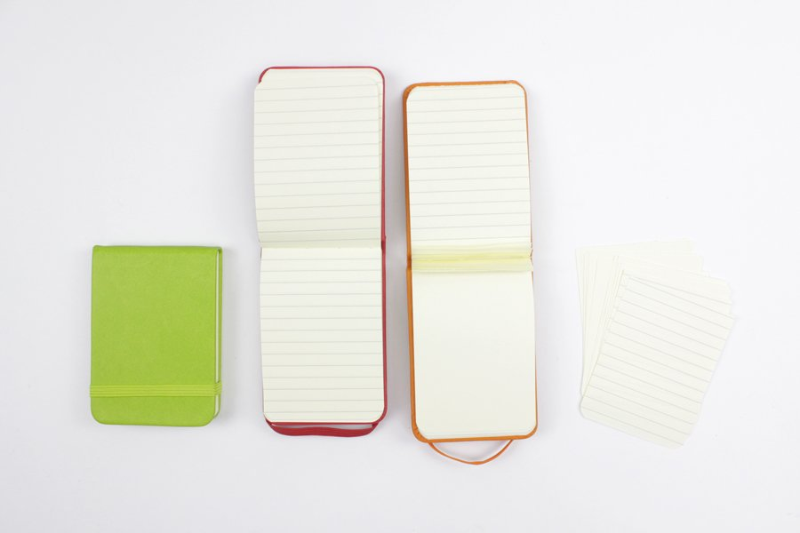 A7 PU Leather Cover notebook with Tear off Paper