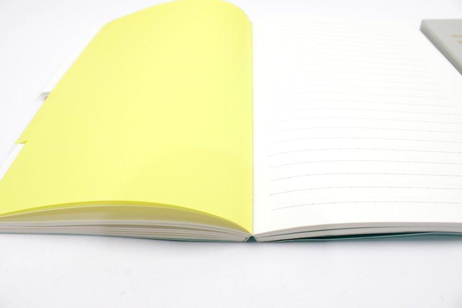 Custom A5 Tab Notebook yellow tab