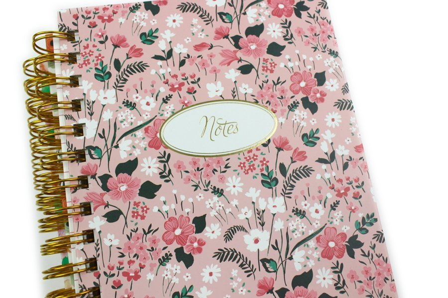 Custom Hardcover Spiral Notebook & Journal flower notes