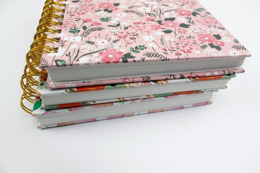 Custom Hardcover Spiral Notebook & Journal flowers