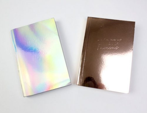 Custom Holographic Silver and Gold Notebook