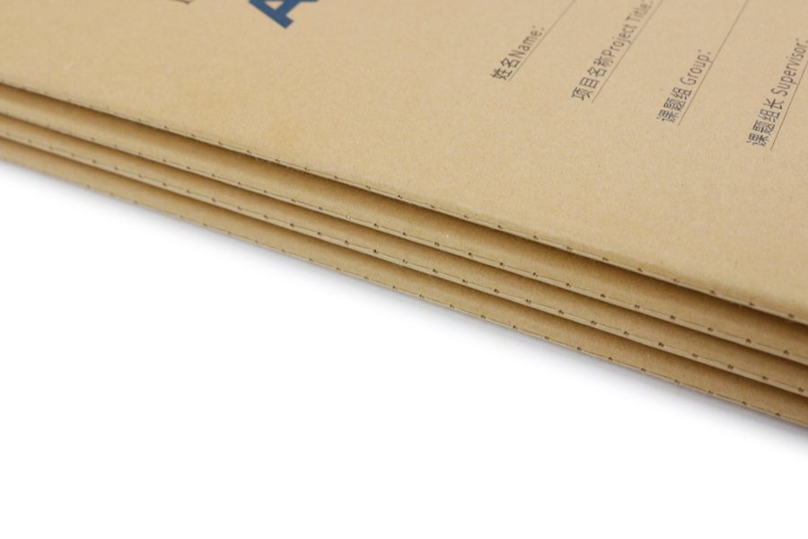 Custom Laboratory Notebook with Kraft Paper Cover Singer Sewn Binding