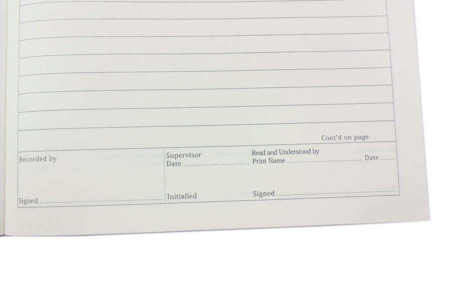 Custom Laboratory Notebook with Kraft Paper Cover bottom