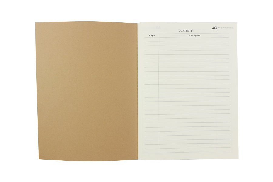 Custom Laboratory Notebook with Kraft Paper Cover title page