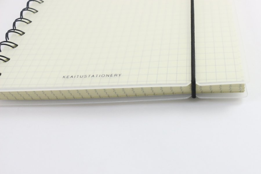 Custom Plastic Cover Notebook elastic cord