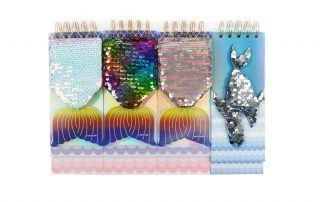 Custom Sequin Notebook Fish Shape Wire-o Binding