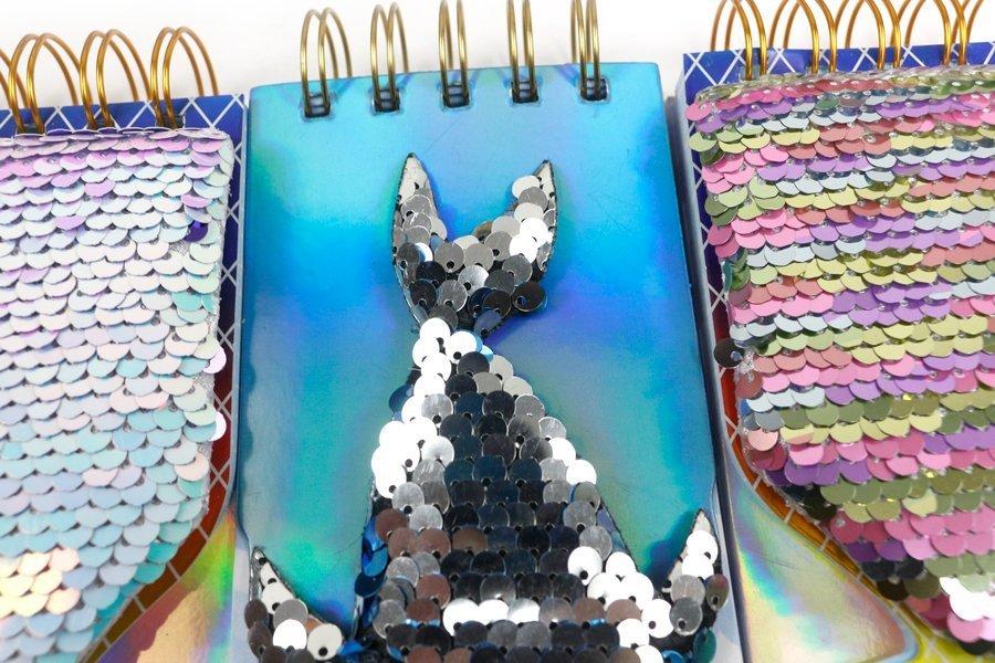 Custom Sequin Notebook Fish Shape Wire-o Binding (5)