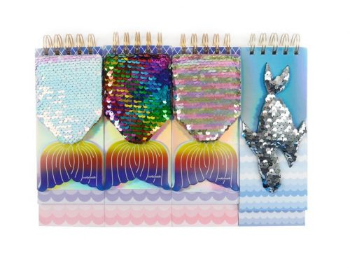 Custom Sequin Notebook | Fish Shape | Wire-o Binding