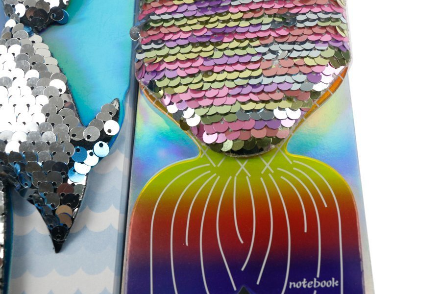Custom Sequin Notebook Fish Shape Wire-o Binding (6)
