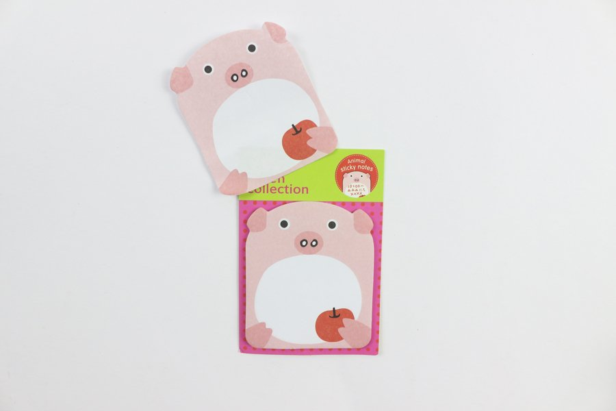 Custom Sticky notes with different shape pig
