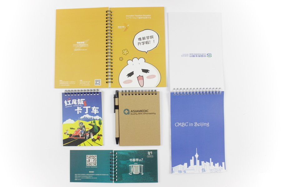 Customize Spiral Notebook with logo and pen