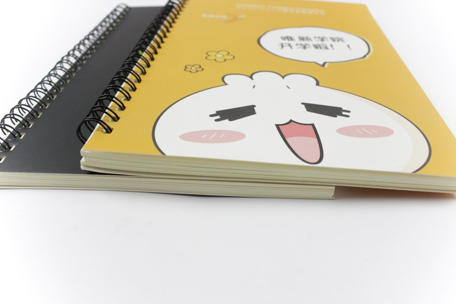 Customize Spiral Notebook with logo thickness