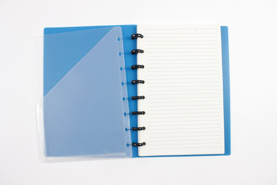 Discbound-Notebook with pocket dividers