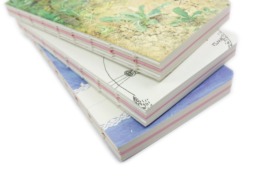 Exposed Spine Binding Notebooks (5)
