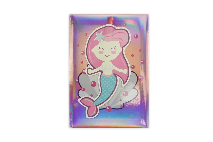 Holographic Hardcover Notebook Pink Mermaids