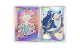 Holographic Hardcover Notebook Pink and Blue Color
