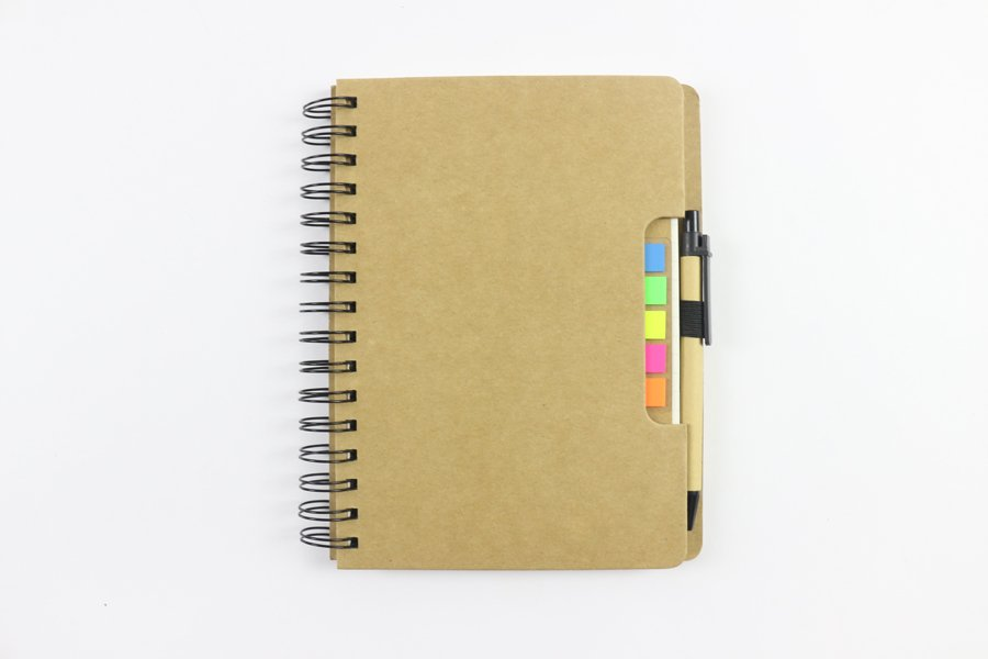 Kraft Paper Hard Cover Wire-o Notebook 1