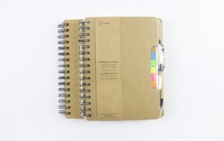 Kraft Paper Hard Cover Wire-o Notebook