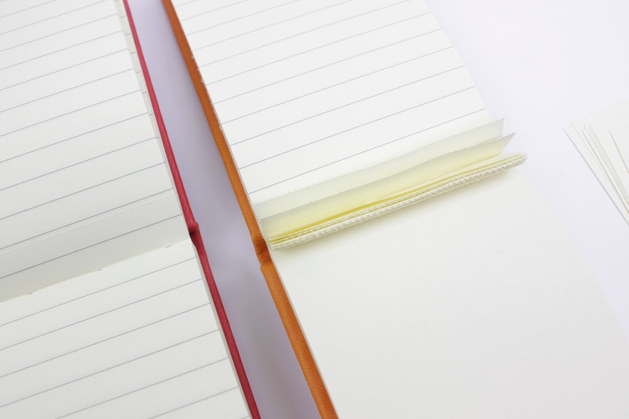 PU Leather Cover notebook with Tear off Paper