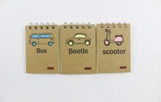 Wire-o Binding Notebook with Vehicle Printing Cover