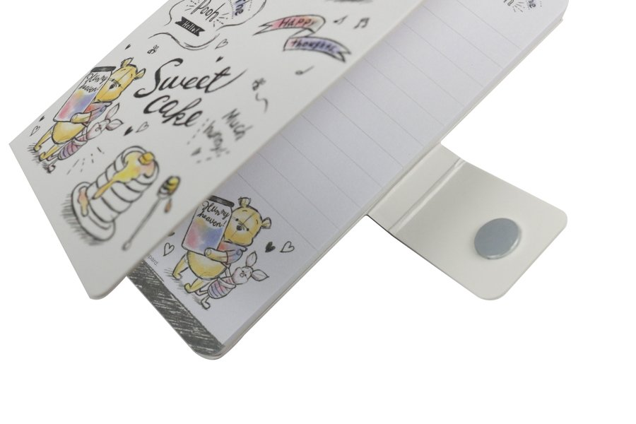 Custom notepad with magnet