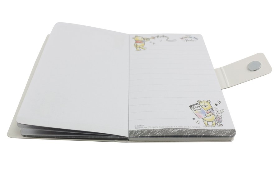 Custom notepad with magnet closure tear off inside
