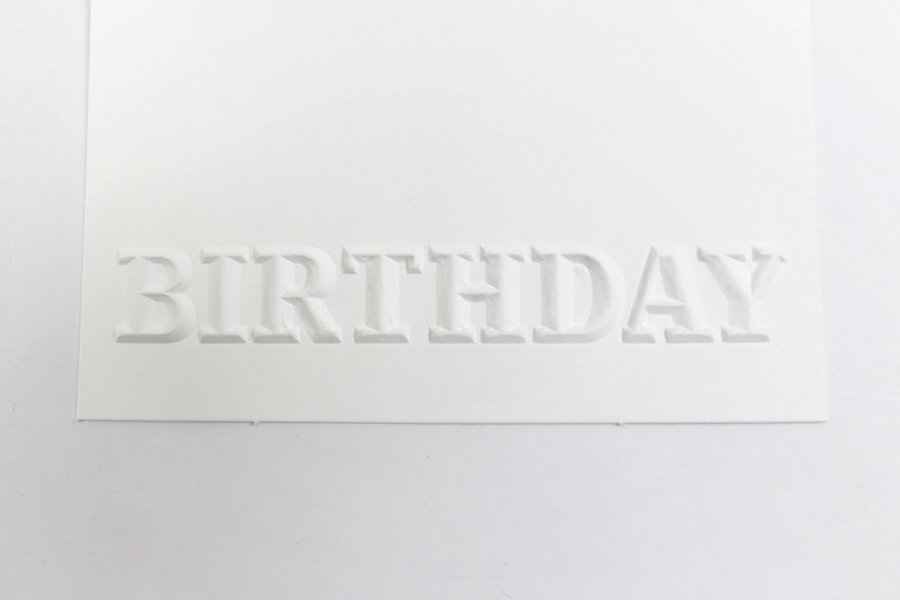 embossing with shape