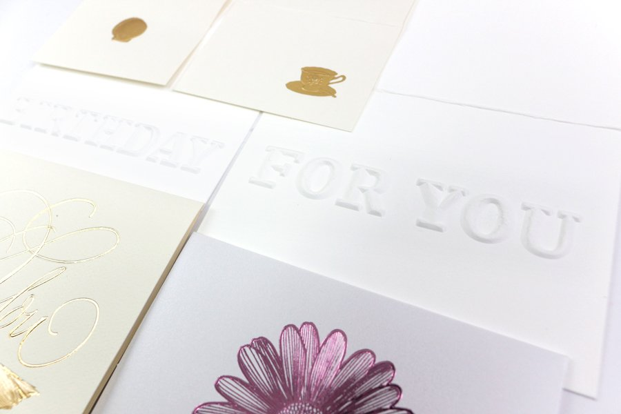 What kinds of embossing we can do!